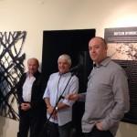 אבי גרובר בפתיחה של התערוכה