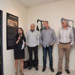 רחל ששפורטה בפתיחה של התערוכה