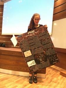 """ליאור אשל, מתיכון """"רוטברג"""",זכתה במקום השלישי בתחרות """"יש לנו כימיה"""""""
