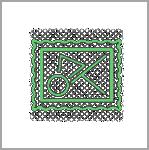 אייקון ירוק - תמונה מופשטת במסגרת